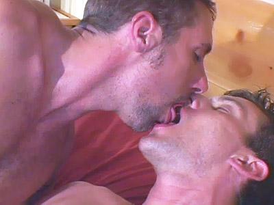 Horny gay enjoying a warm cock blowing