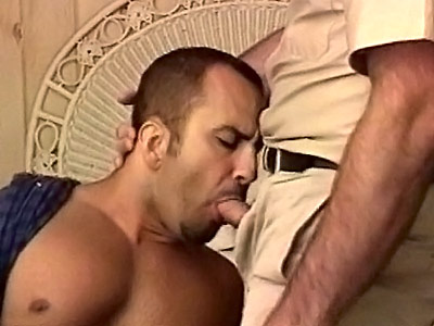 Big hairy gays enjoying mouthfuls of cock